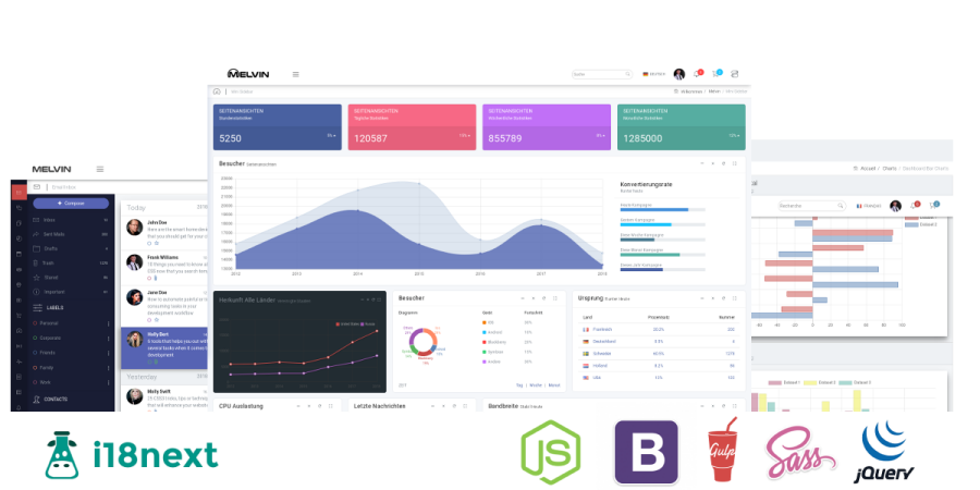 melvin bootstrap 4 admin